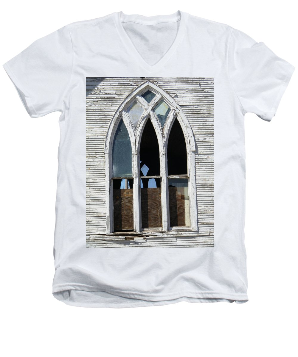 Church Men's V-Neck T-Shirt featuring the photograph Lost by Gale Cochran-Smith