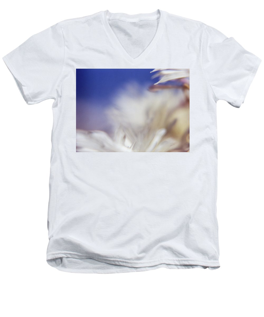 Flower Men's V-Neck T-Shirt featuring the photograph Macro Flower 1 by Lee Santa