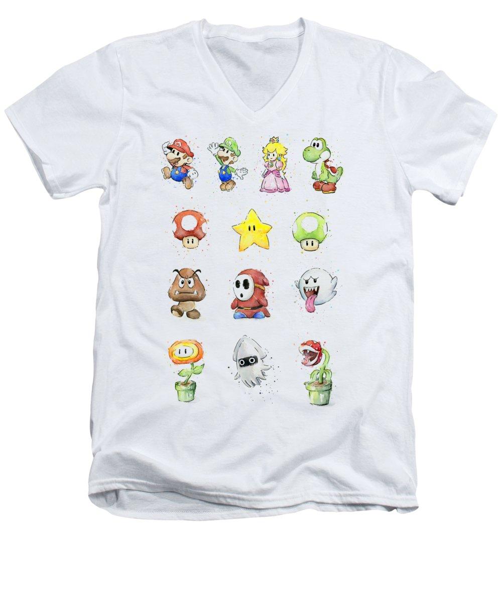 Peach V-Neck T-Shirts