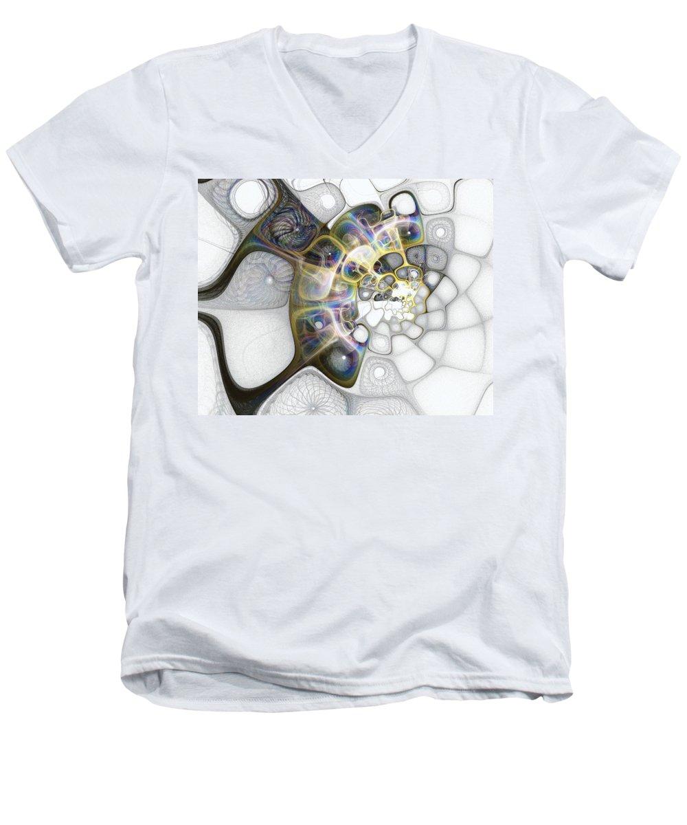 Digital Art Men's V-Neck T-Shirt featuring the digital art Memories II by Amanda Moore