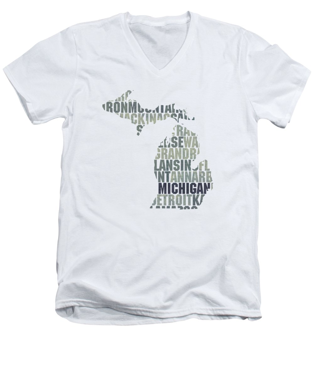 Michigan State V-Neck T-Shirts