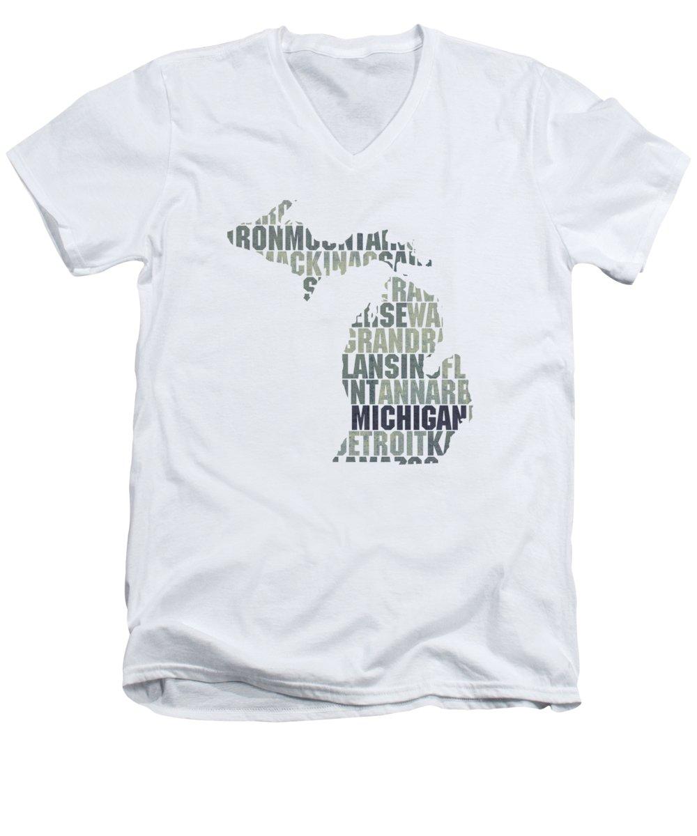 Michigan State V-Neck T-Shirts