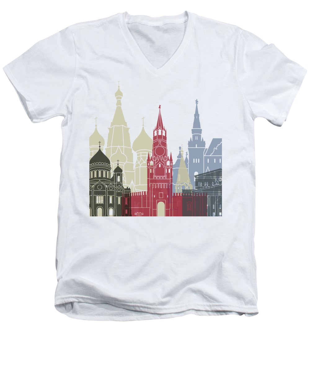 Moscow Skyline V-Neck T-Shirts