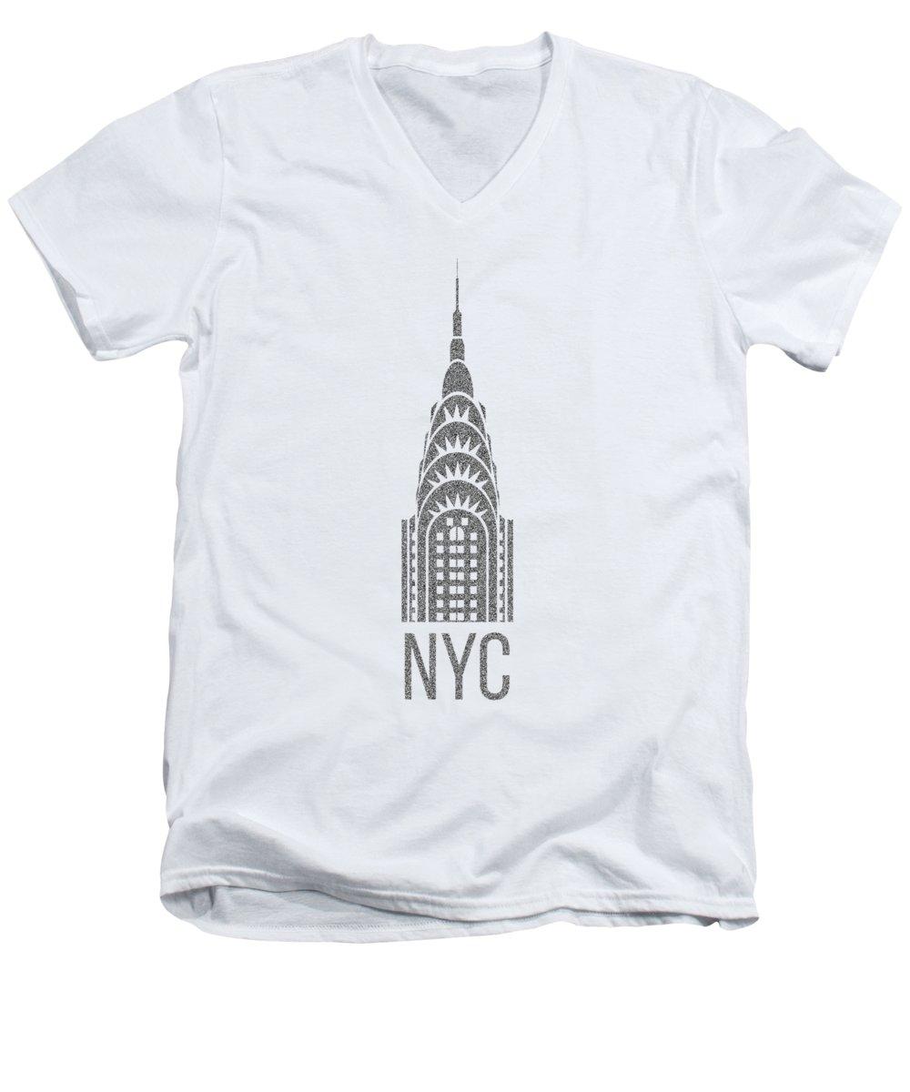 Chrysler Building V-Neck T-Shirts