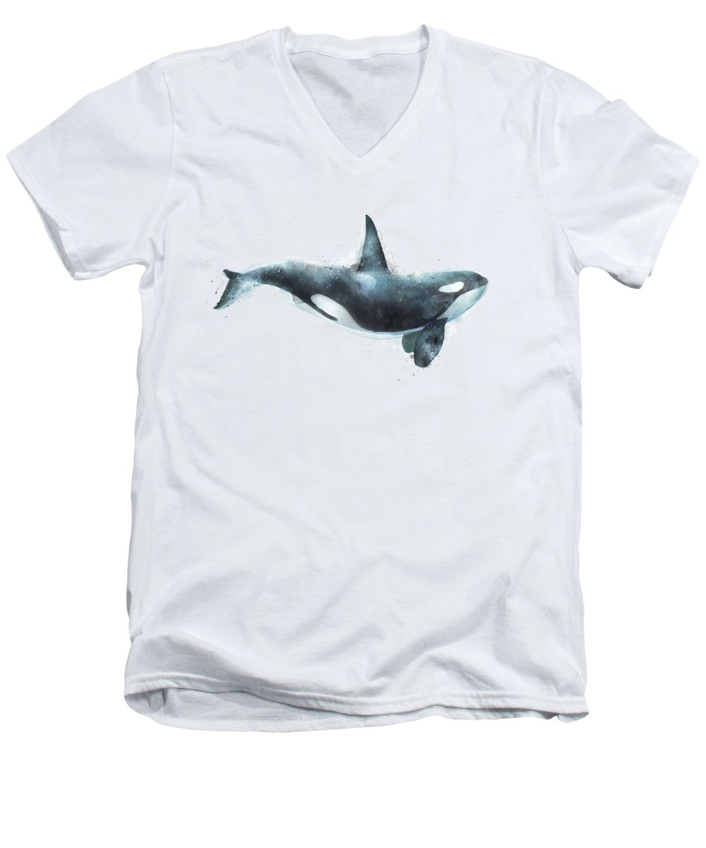 Whale V-Neck T-Shirts