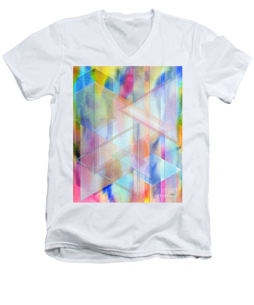 Pastoral Moment Men's V-Neck T-Shirt featuring the digital art Pastoral Moment by John Beck
