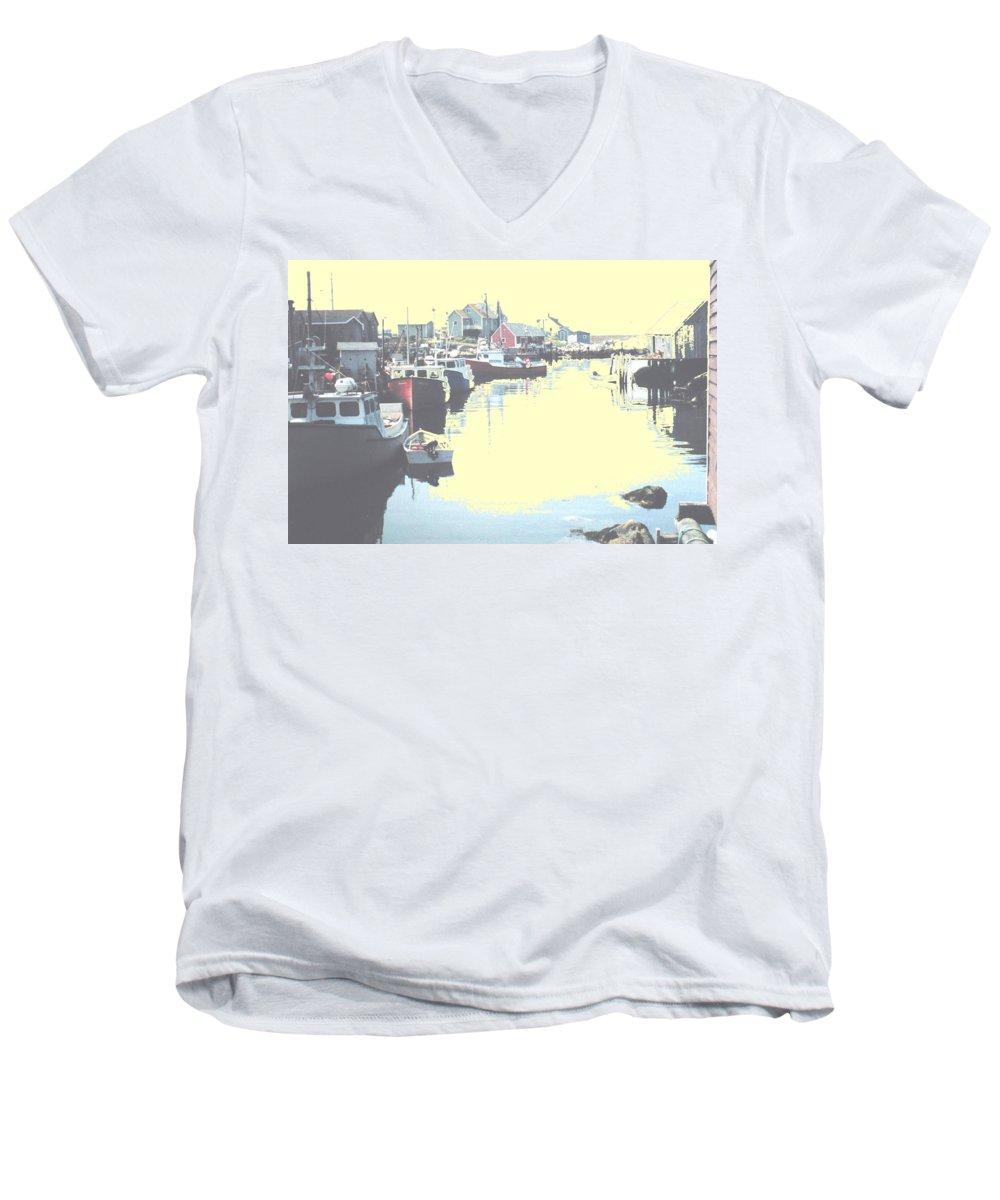Nova Scotia Men's V-Neck T-Shirt featuring the photograph Peggy by Ian MacDonald