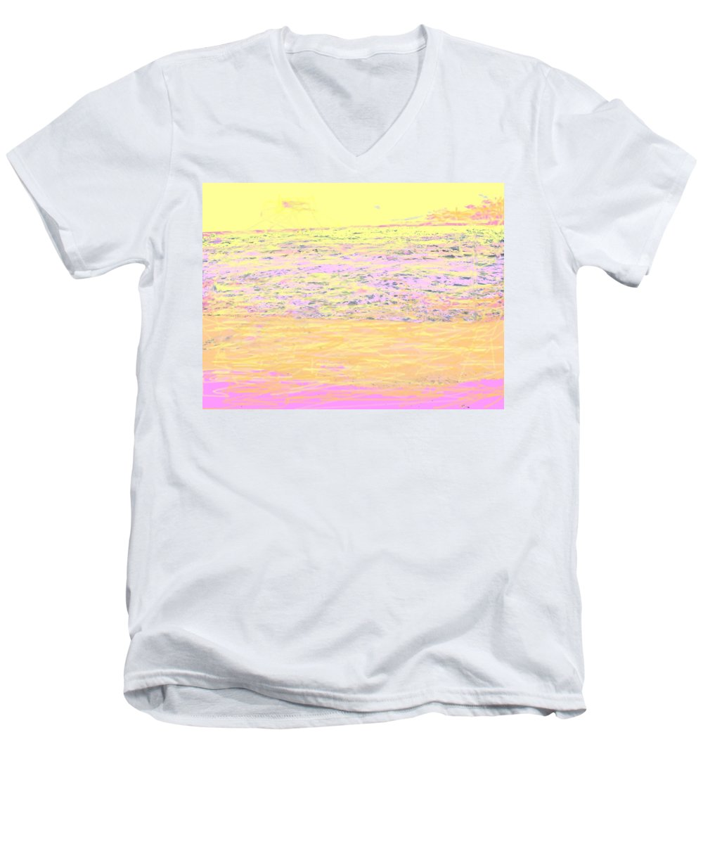 Seascape Men's V-Neck T-Shirt featuring the photograph Pineapple Sunset by Ian MacDonald