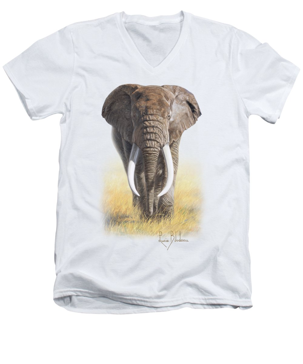 Elephant V-Neck T-Shirts