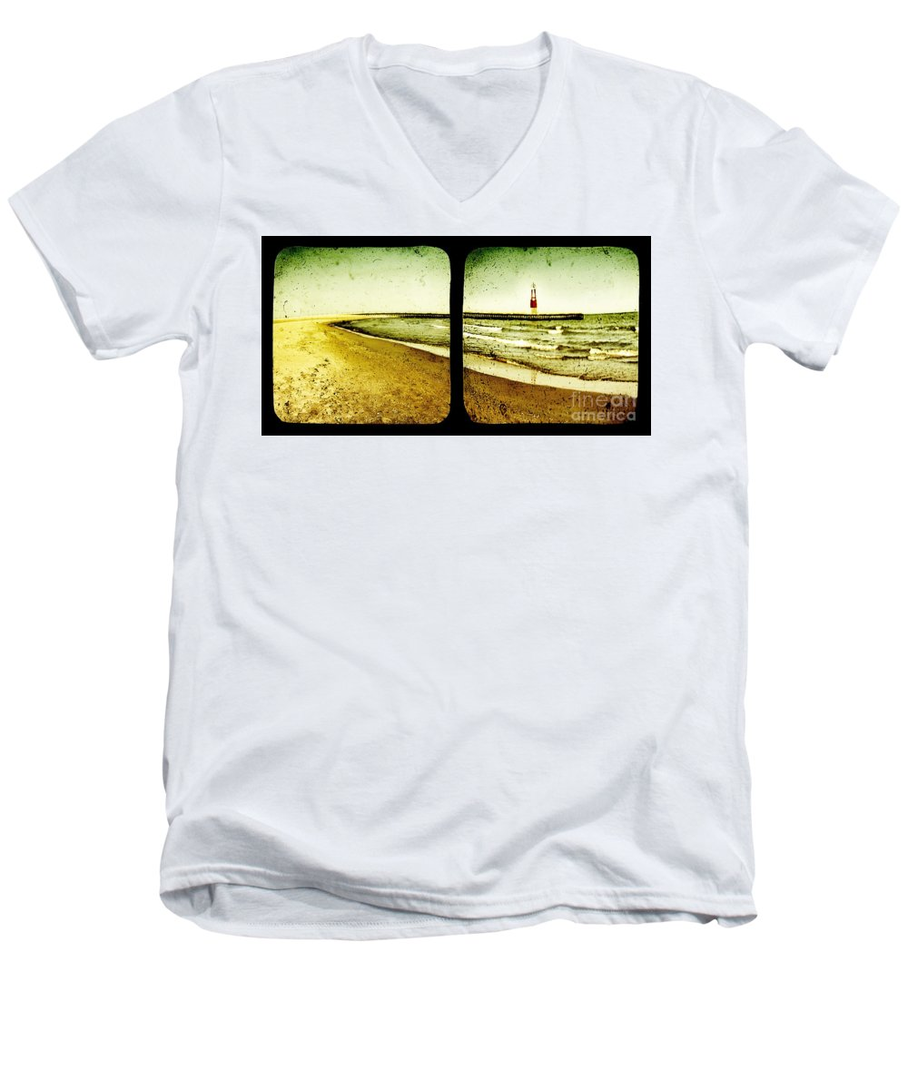 Ttv Men's V-Neck T-Shirt featuring the photograph Reaching For Your Hand by Dana DiPasquale