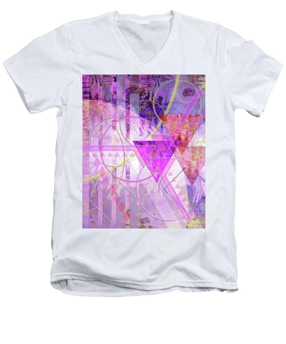 Shibumi Men's V-Neck T-Shirt featuring the digital art Shibumi Spirit by John Beck