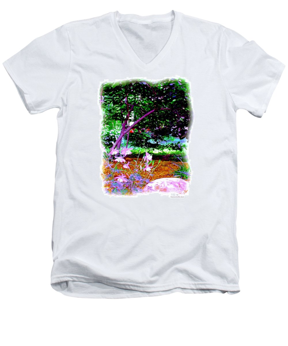 Fine Art Men's V-Neck T-Shirt featuring the painting Sitting In The Shade by Patricia Griffin Brett