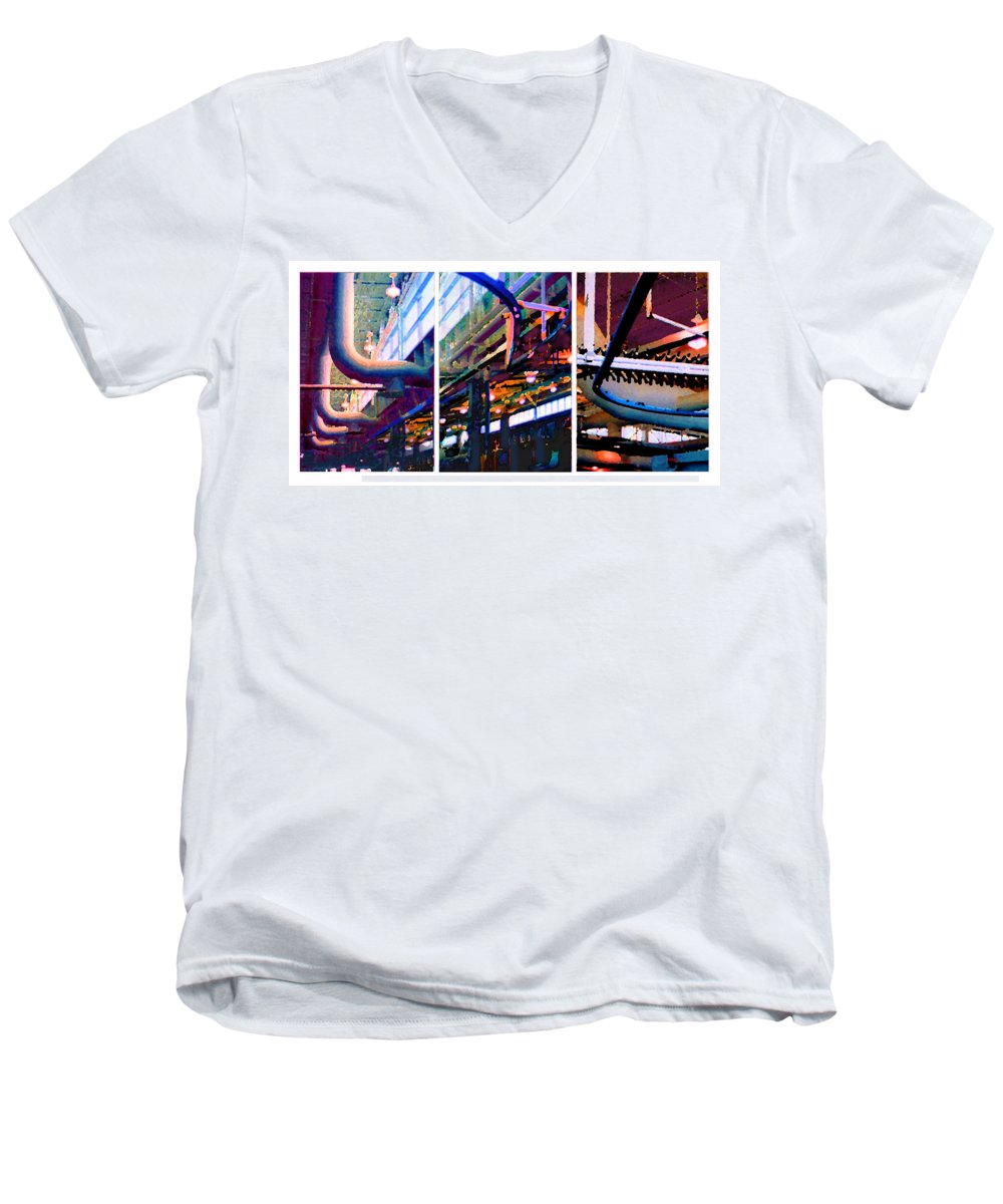Abstract Men's V-Neck T-Shirt featuring the photograph Star Factory by Steve Karol