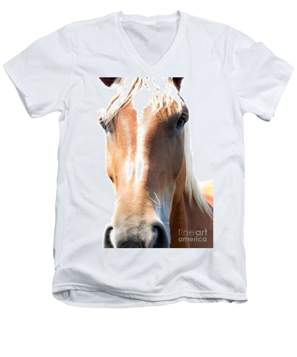 Horse Men's V-Neck T-Shirt featuring the photograph Sweetie by Amanda Barcon