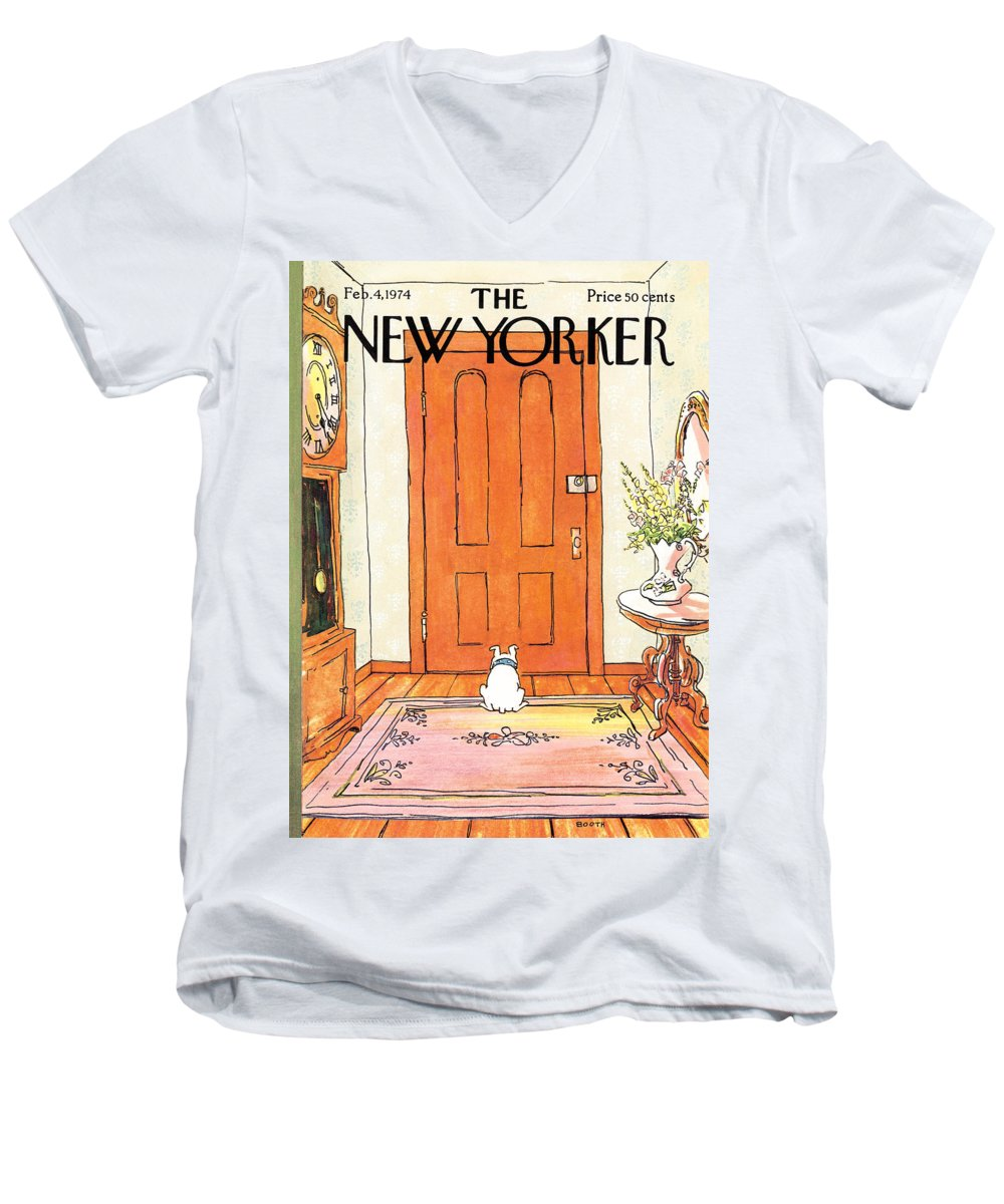 Animal Men's V-Neck T-Shirt featuring the photograph The Long Wait by George Booth