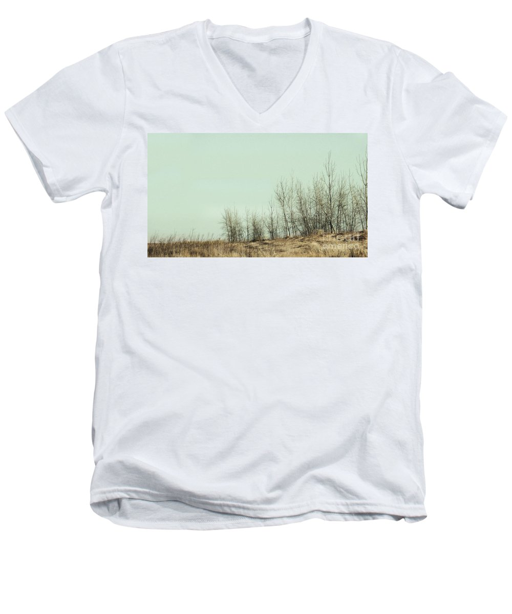 Trees Men's V-Neck T-Shirt featuring the photograph The Things We Should Have Done To End Up Somewhere Else by Dana DiPasquale