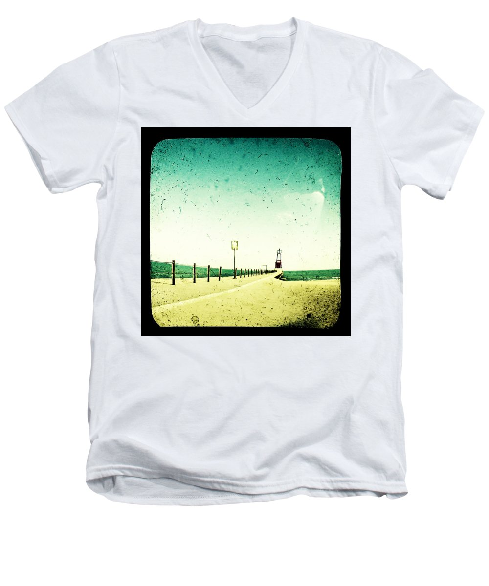 Beach Men's V-Neck T-Shirt featuring the photograph These Days Are Gone by Dana DiPasquale