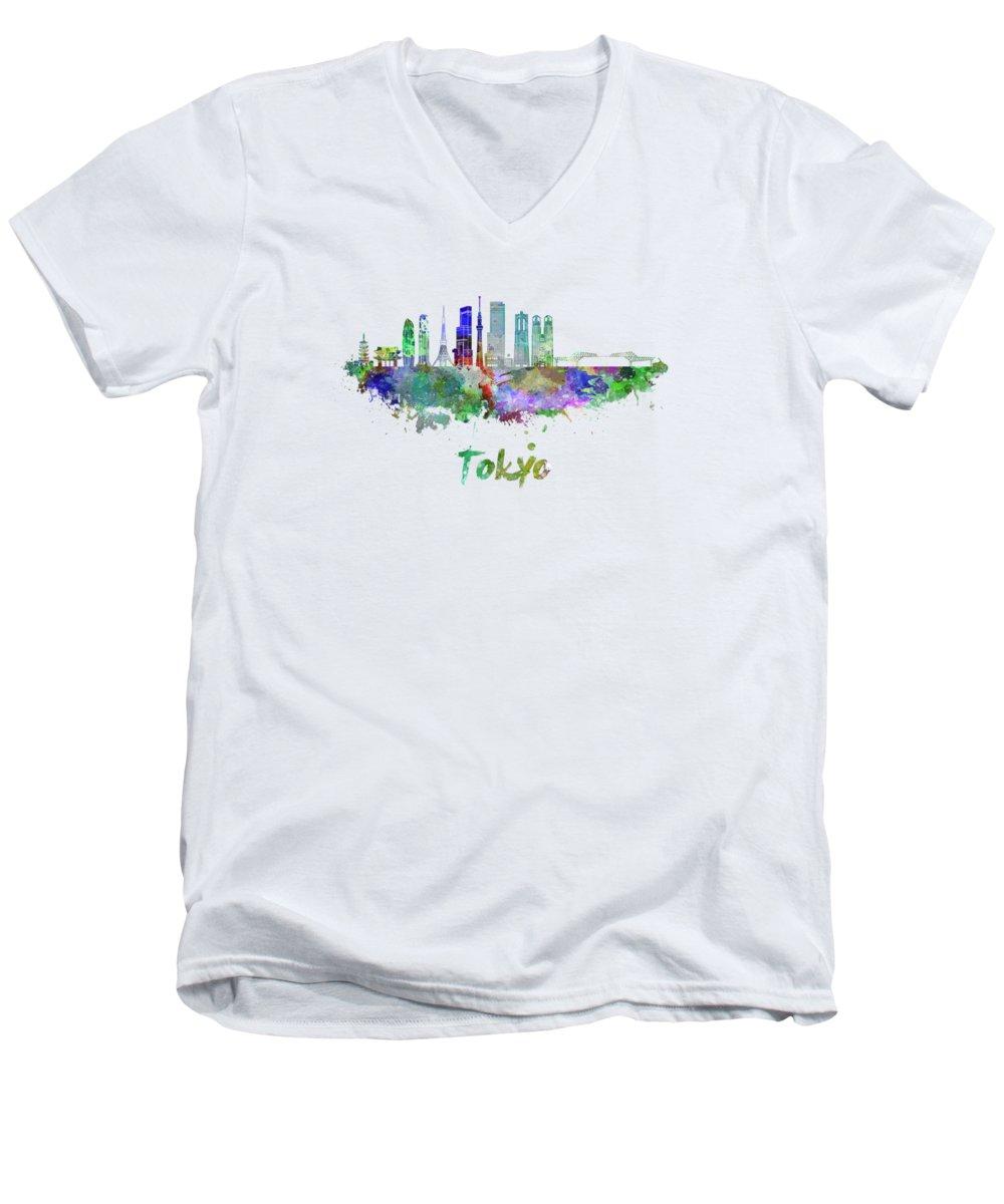 Tokyo Skyline V-Neck T-Shirts