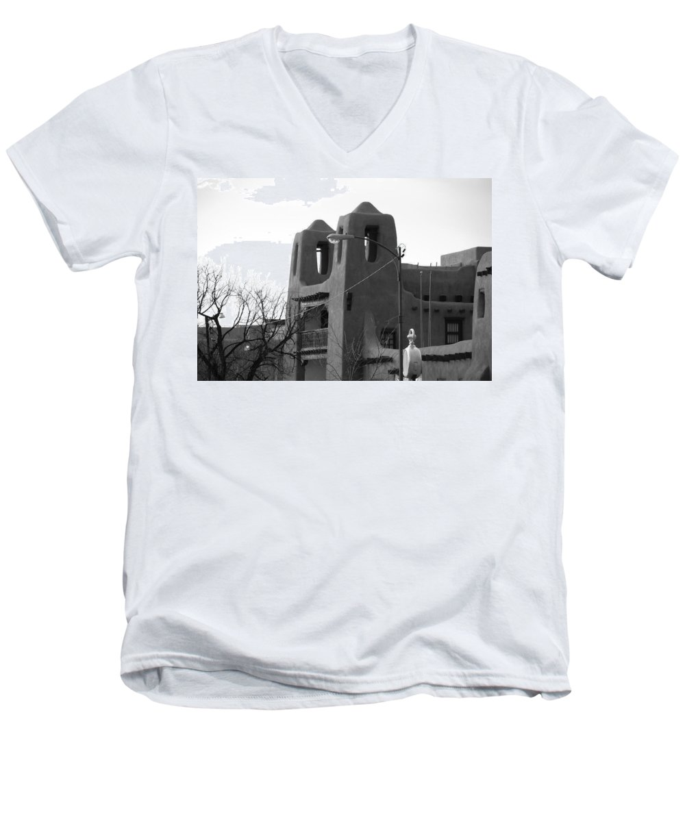 Architecture Men's V-Neck T-Shirt featuring the photograph Town Hall by Rob Hans