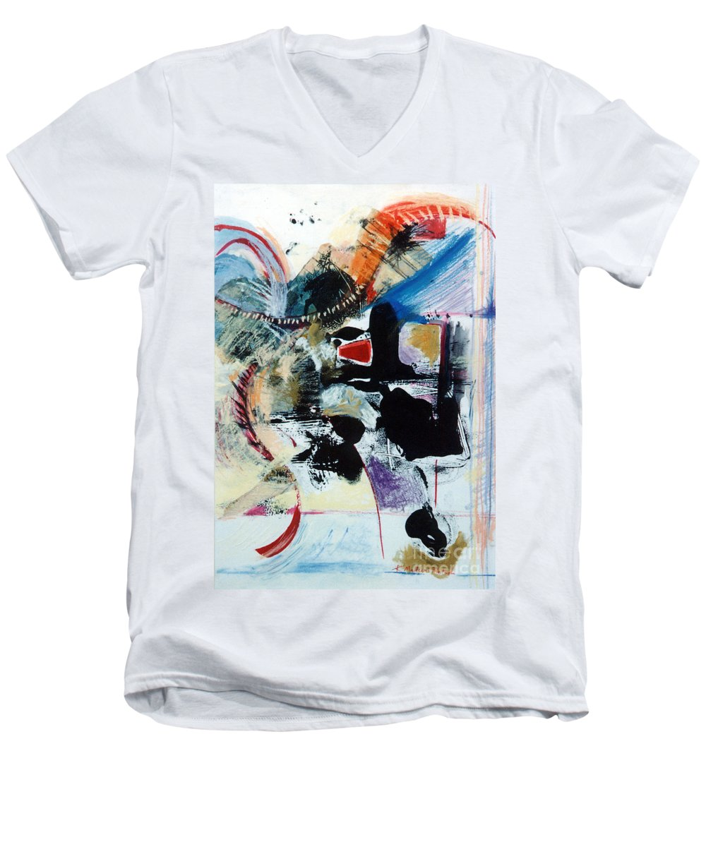 Transcendance Men's V-Neck T-Shirt featuring the drawing Transcendance by Kerryn Madsen-Pietsch