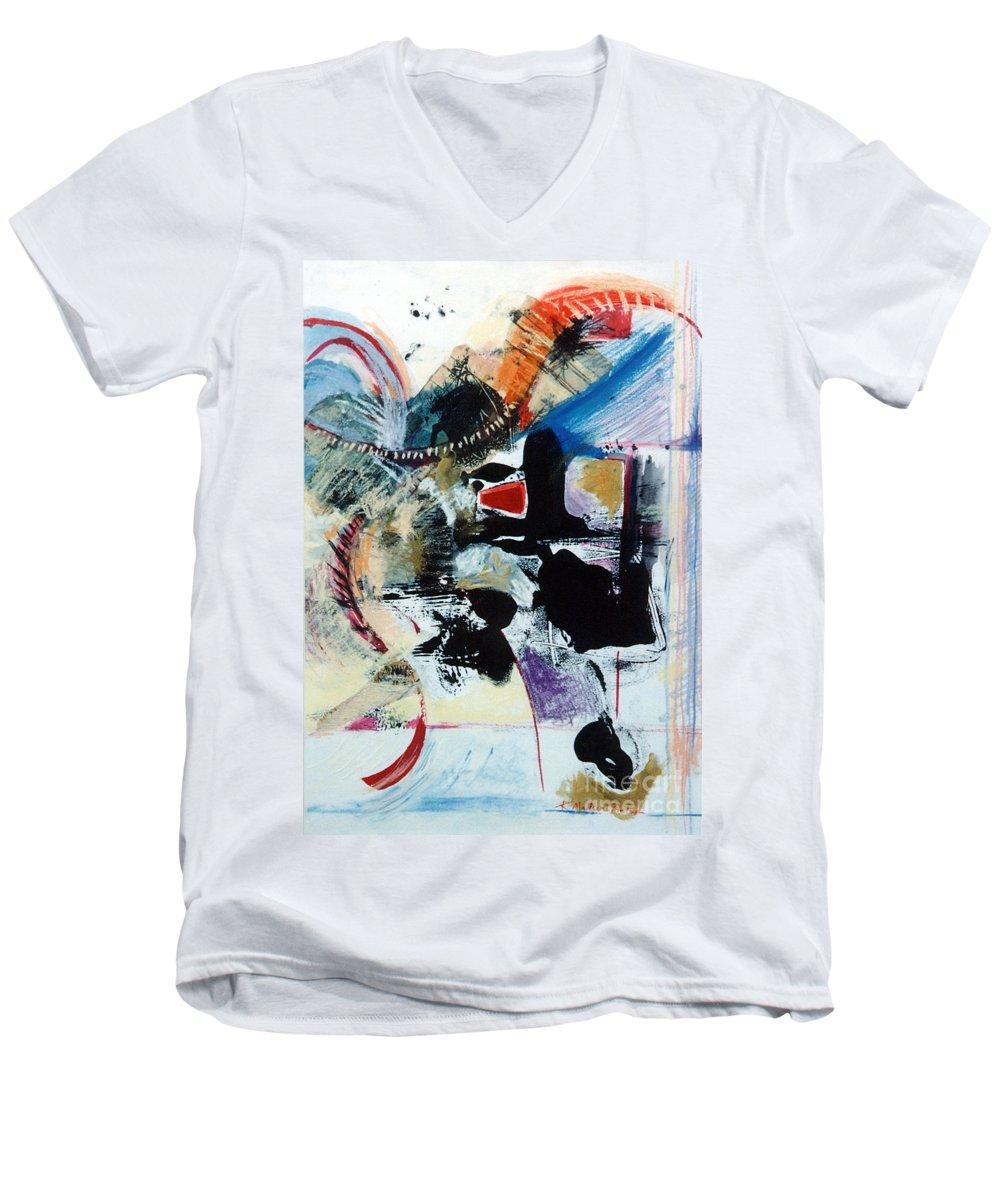 Transcendance Men's V-Neck T-Shirt featuring the drawing Transcendance by Kerryn Madsen-Pietsch