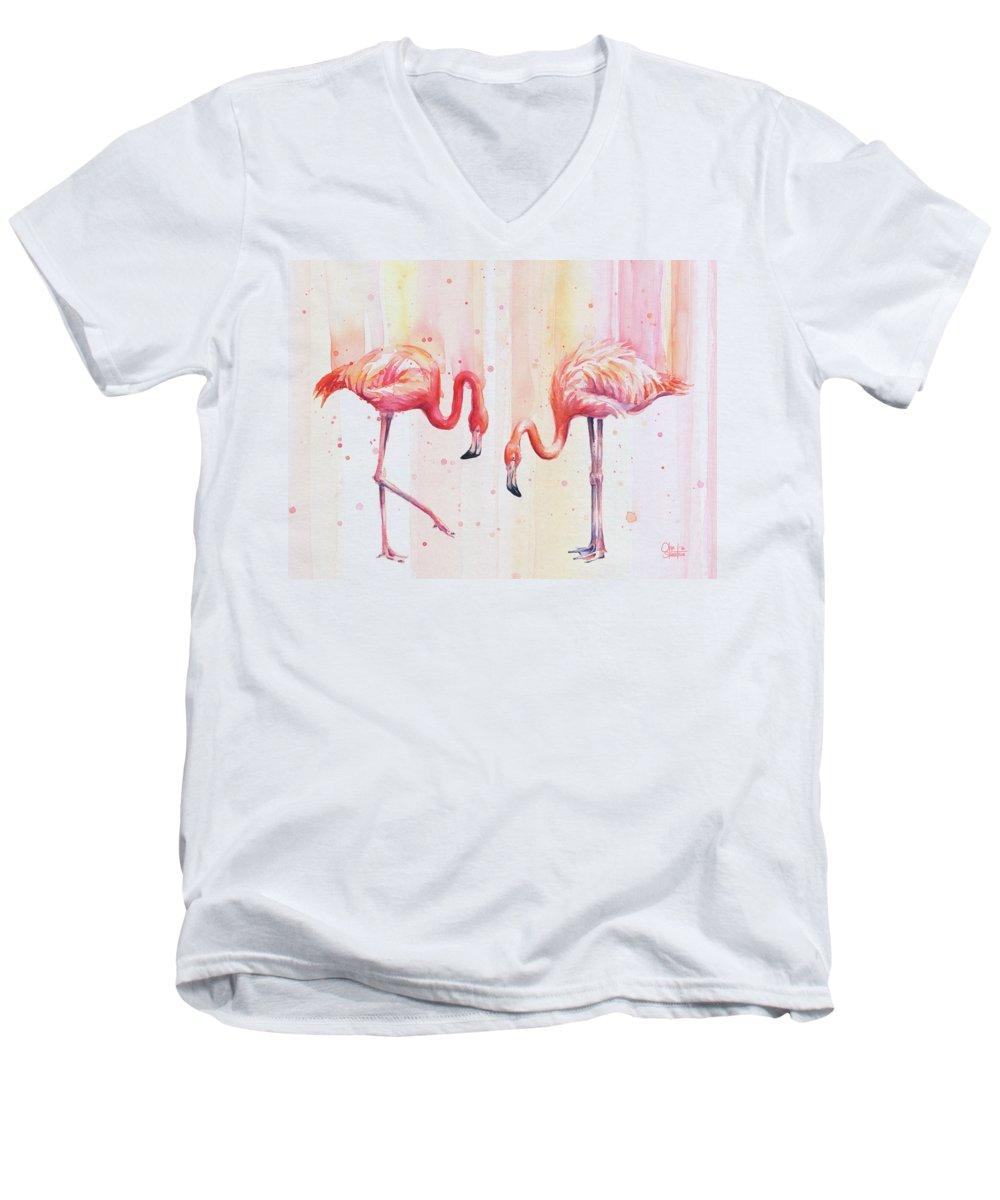 Flamingo V-Neck T-Shirts