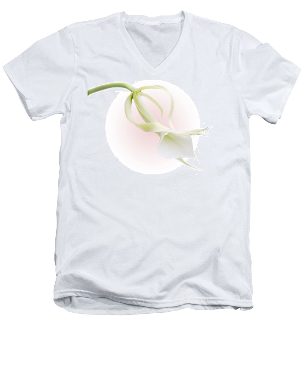 Love Men's V-Neck T-Shirt featuring the photograph Valentine Orchid by Marilyn Hunt