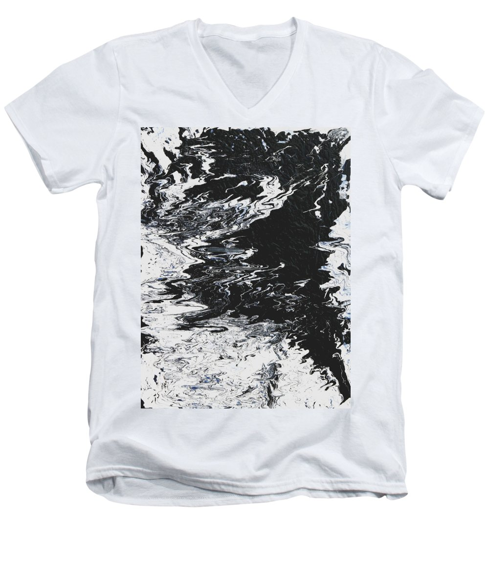 Fusionart Men's V-Neck T-Shirt featuring the painting Victory by Ralph White