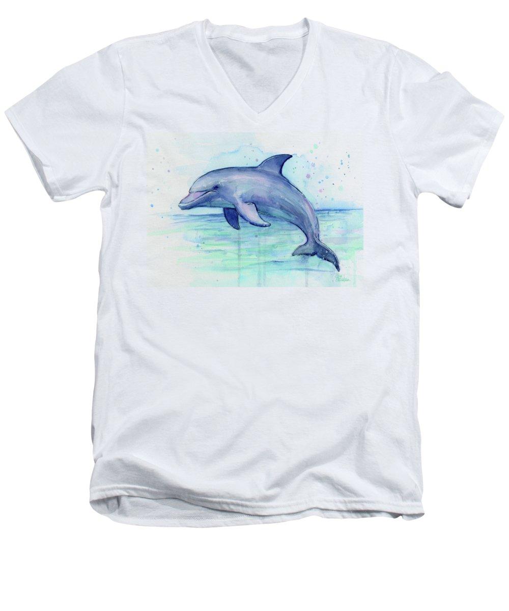 Dolphin V-Neck T-Shirts