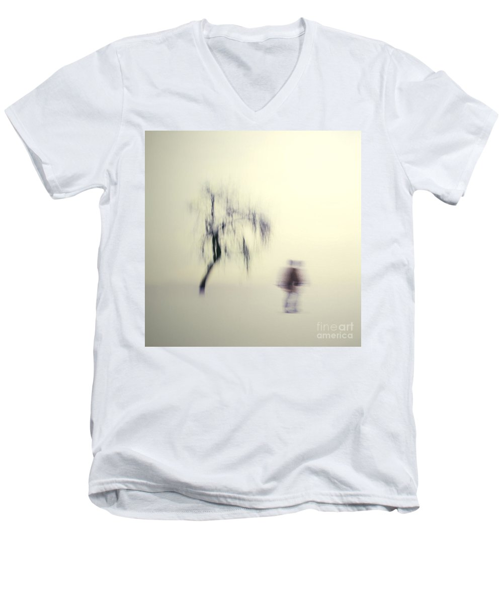 Blur Men's V-Neck T-Shirt featuring the photograph What Is The Way To The Light by Dana DiPasquale