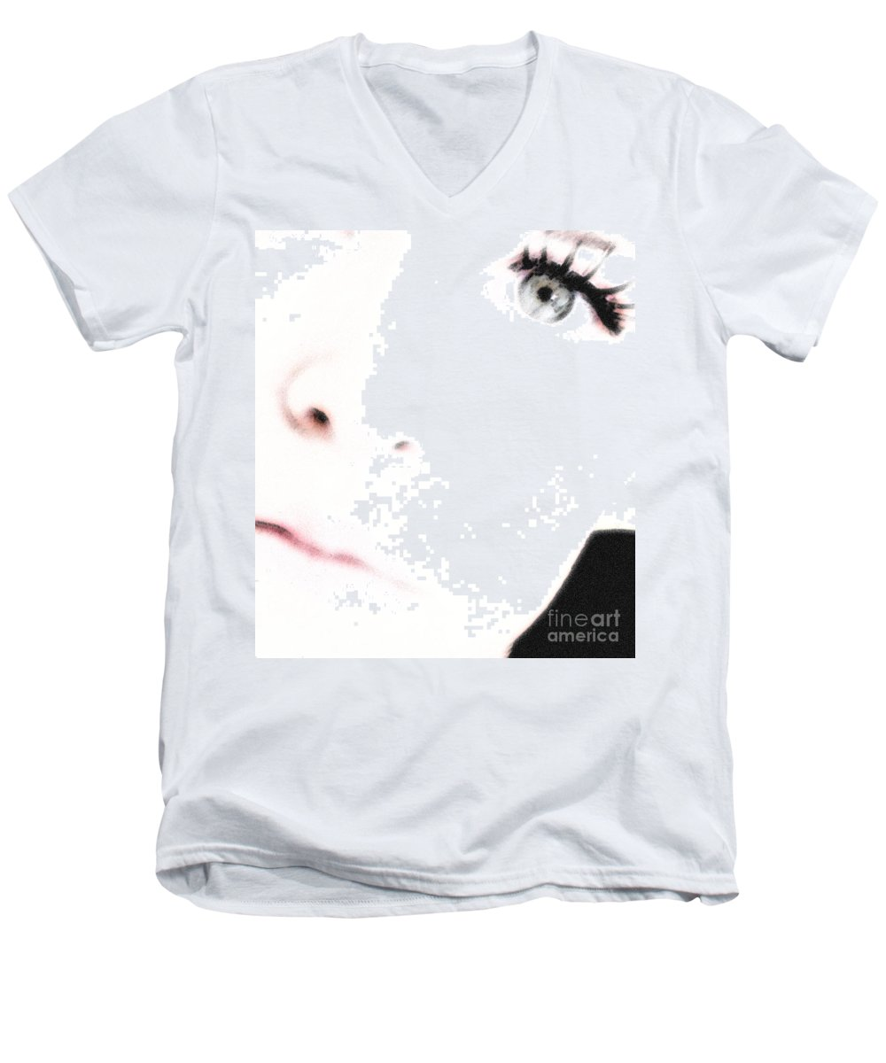 Face Men's V-Neck T-Shirt featuring the photograph Where Is The Soul by Amanda Barcon