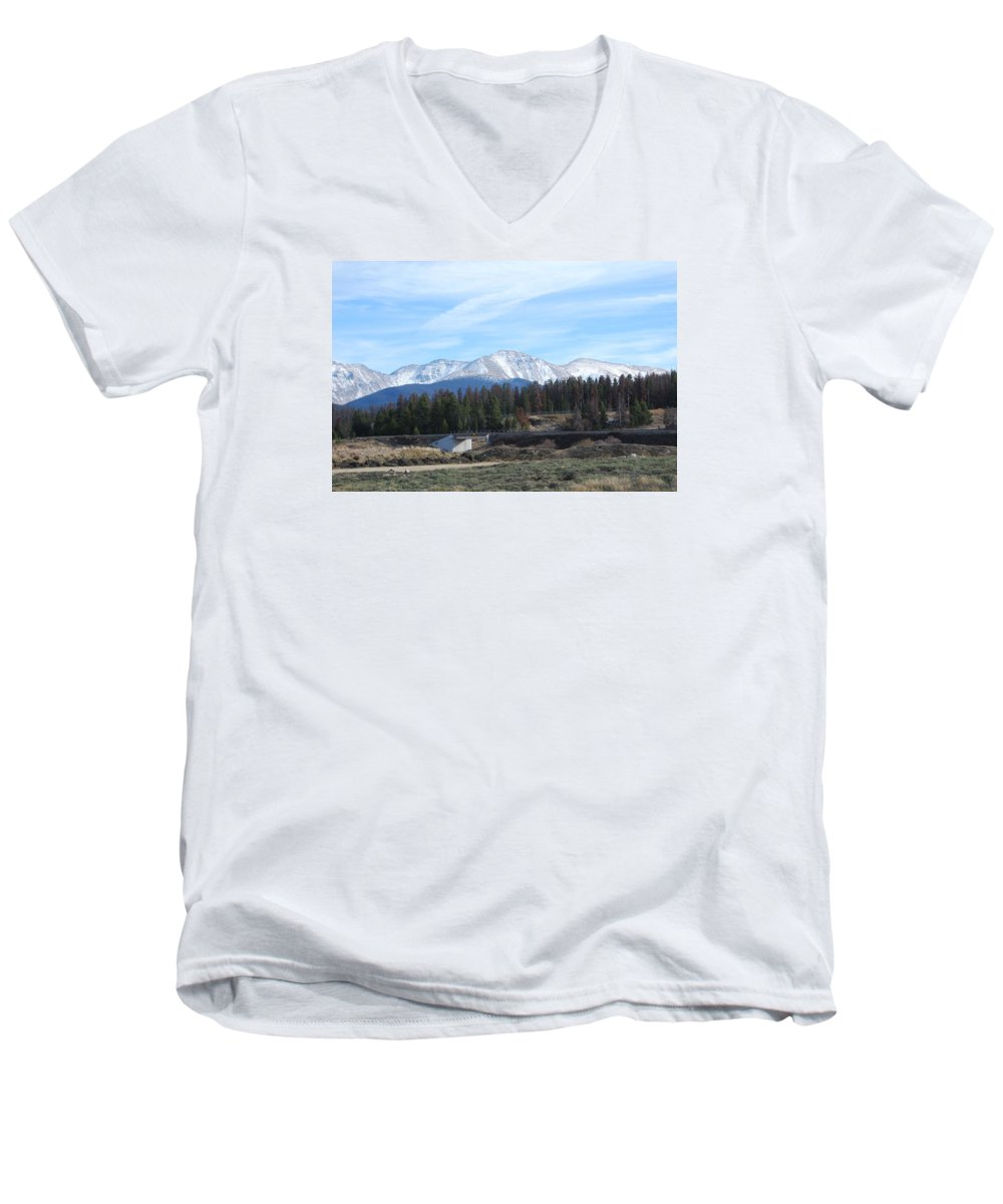 Colorado Men's V-Neck T-Shirt featuring the photograph Winter Park Colorado by Margaret Fortunato