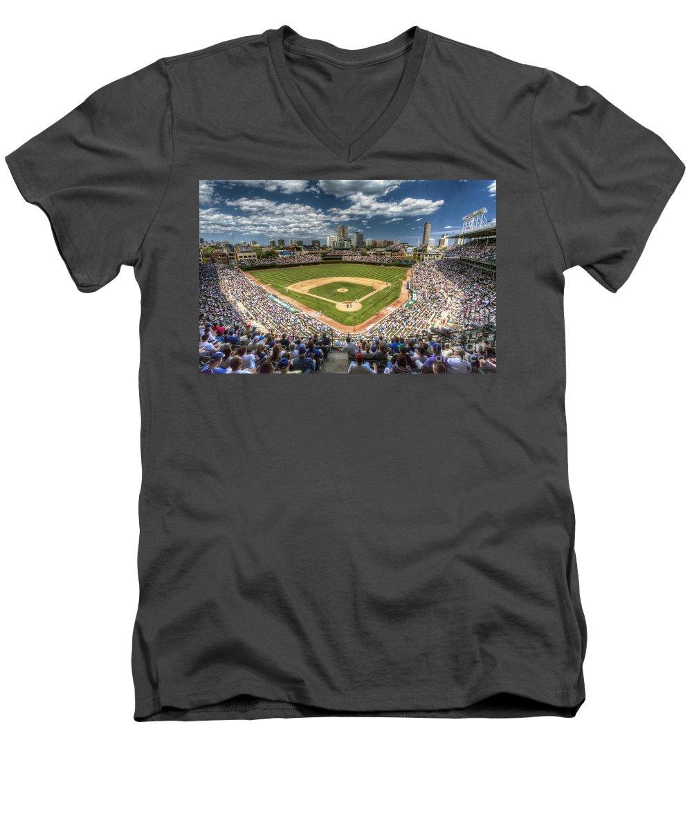 Wrigley Field V-Neck T-Shirts