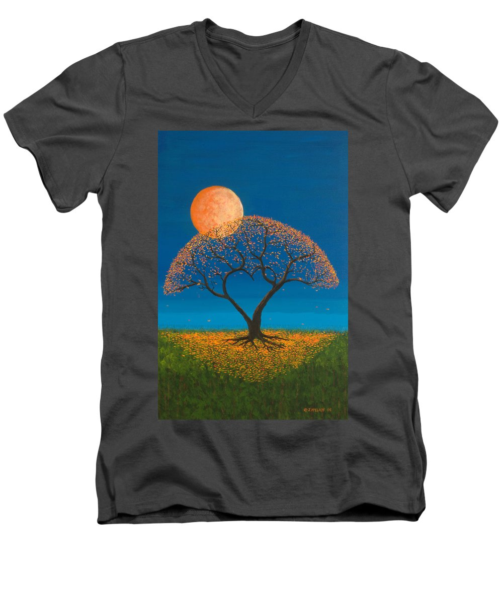 Love Men's V-Neck T-Shirt featuring the painting Falling For You by Jerry McElroy