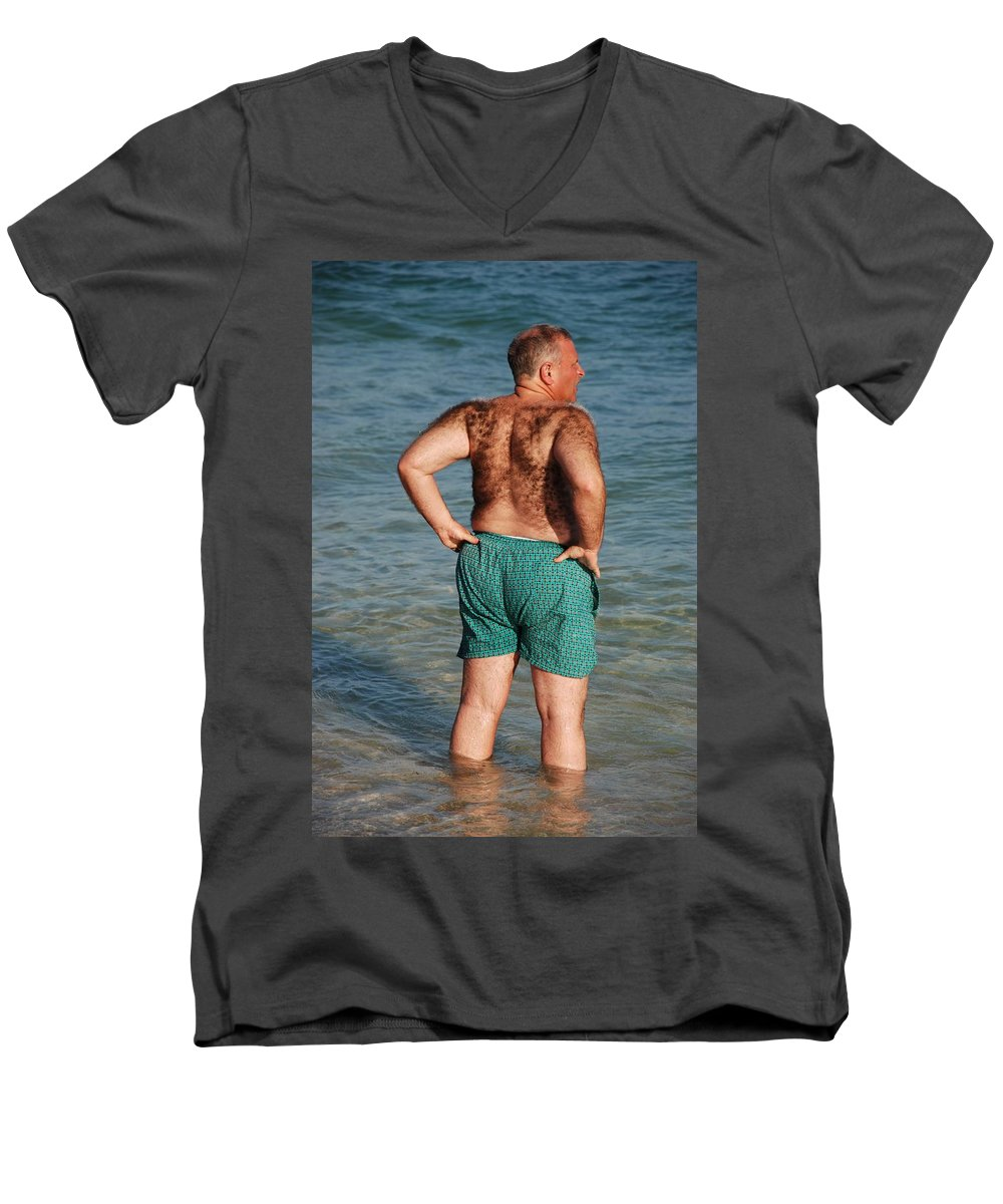 Man Men's V-Neck T-Shirt featuring the photograph Hairy Ocean by Rob Hans