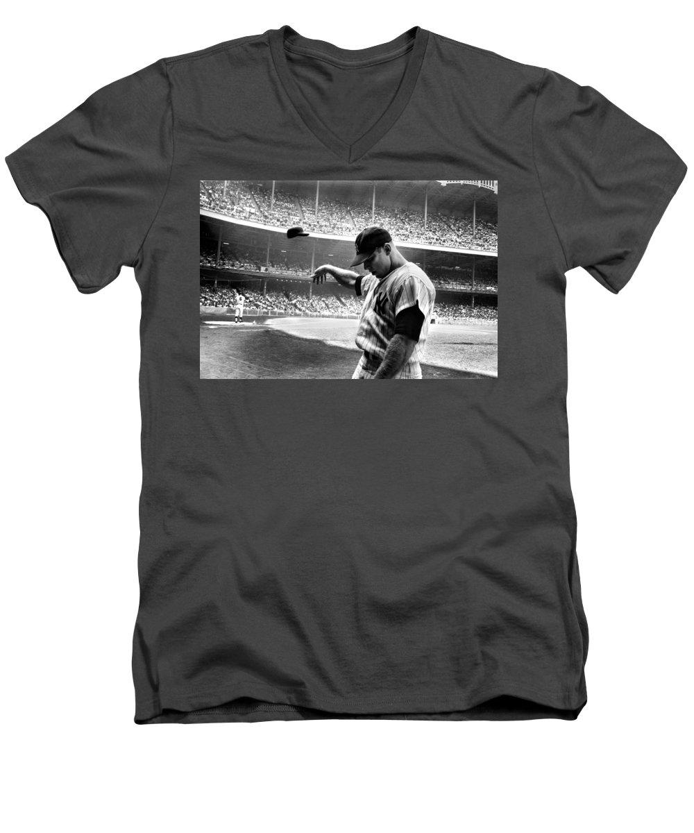 Mickey Mantle V-Neck T-Shirts