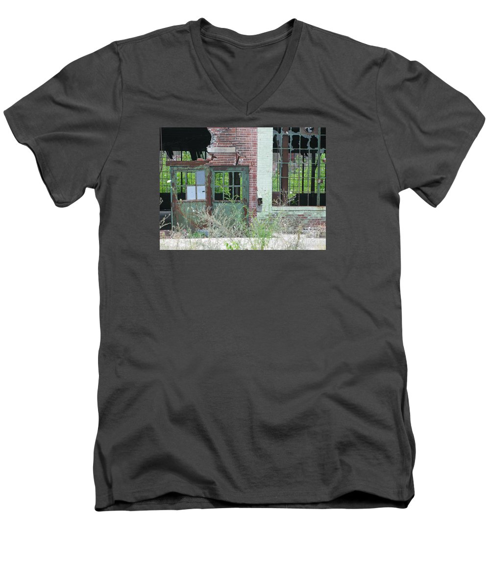 Factory Men's V-Neck T-Shirt featuring the photograph Obsolete by Ann Horn