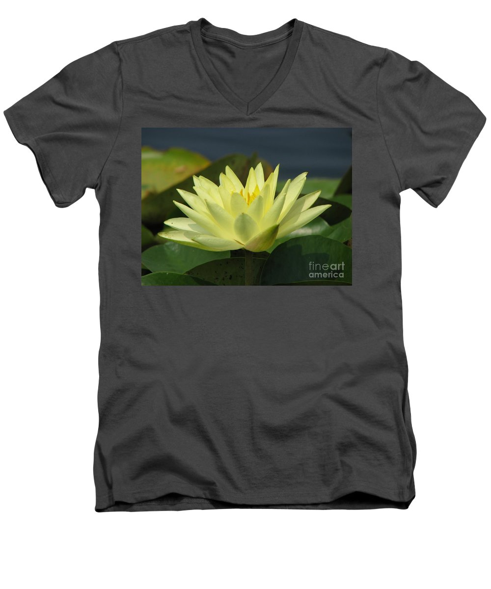 Lillies Men's V-Neck T-Shirt featuring the photograph Peace by Amanda Barcon