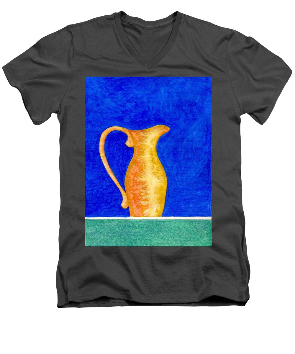 Still Life Men's V-Neck T-Shirt featuring the painting Pitcher 2 by Micah Guenther