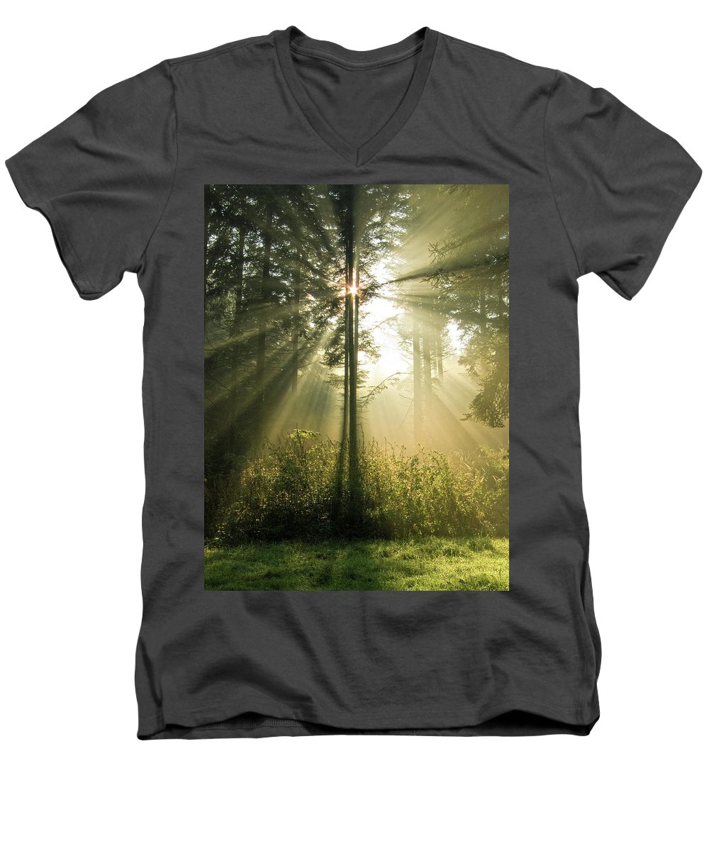 Nature Men's V-Neck T-Shirt featuring the photograph Splendour by Daniel Csoka
