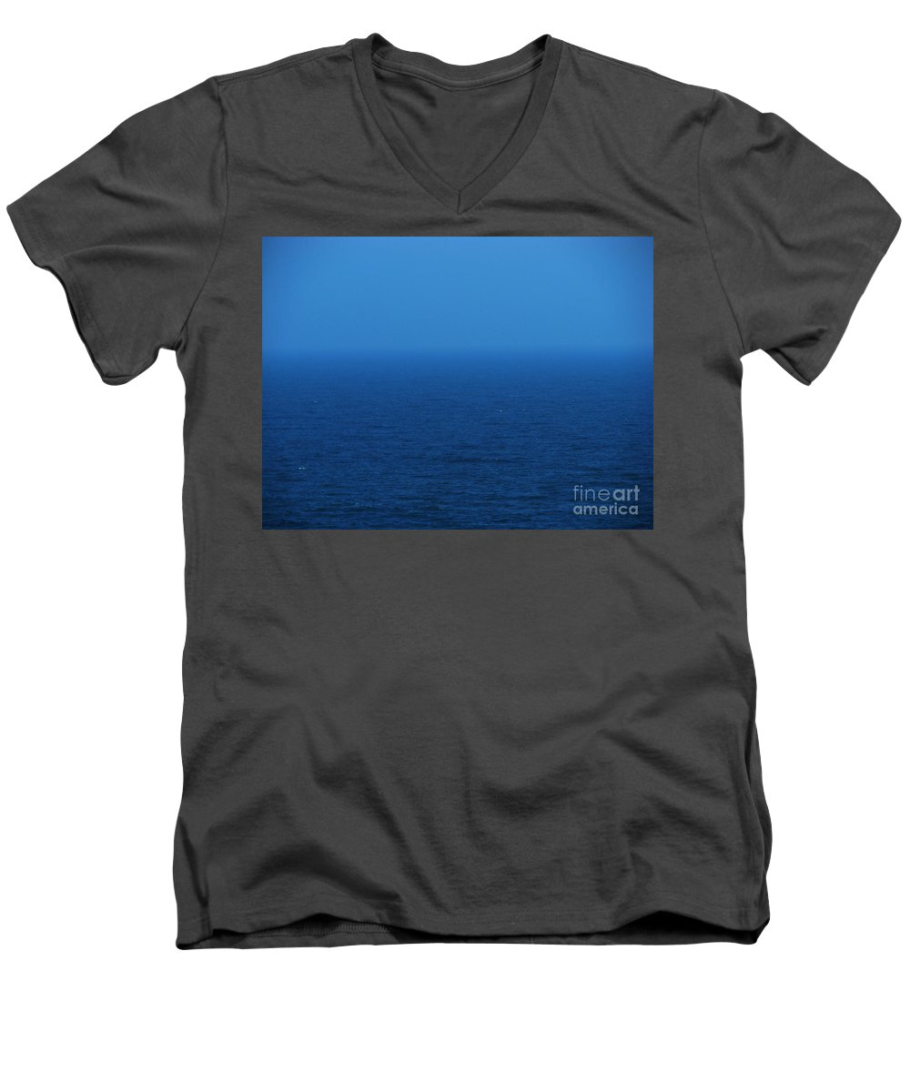 Blue Men's V-Neck T-Shirt featuring the photograph Stepping Into A Dream by Amanda Barcon