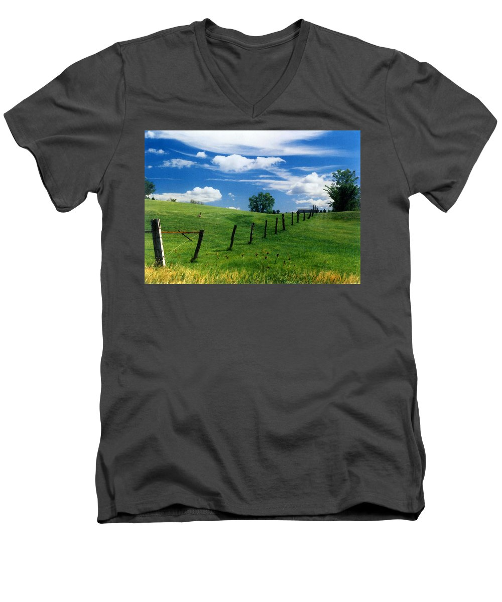 Summer Landscape Men's V-Neck T-Shirt featuring the photograph Summer Landscape by Steve Karol