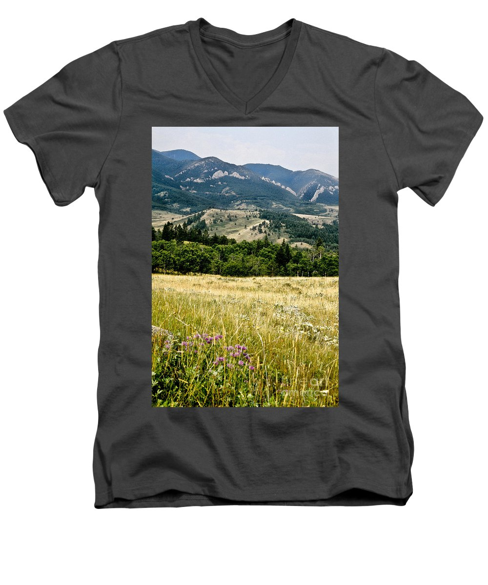 Wilderness Men's V-Neck T-Shirt featuring the photograph Washake Wilderness by Kathy McClure