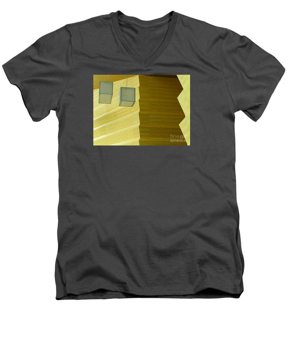 Zig-zag Men's V-Neck T-Shirt featuring the photograph Zig-zag by Ann Horn