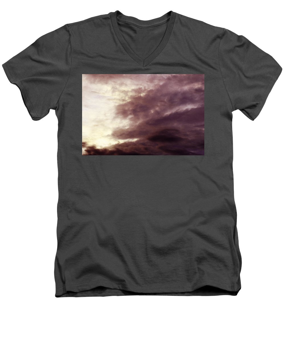 Clay Men's V-Neck T-Shirt featuring the photograph Clouds by Clayton Bruster