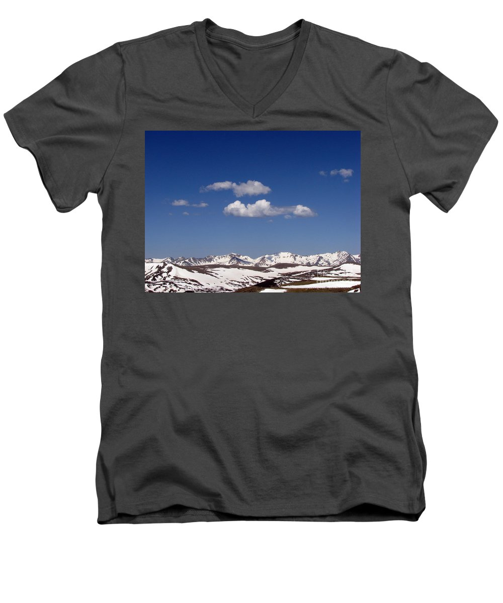 Mountains Men's V-Neck T-Shirt featuring the photograph Colorado by Amanda Barcon