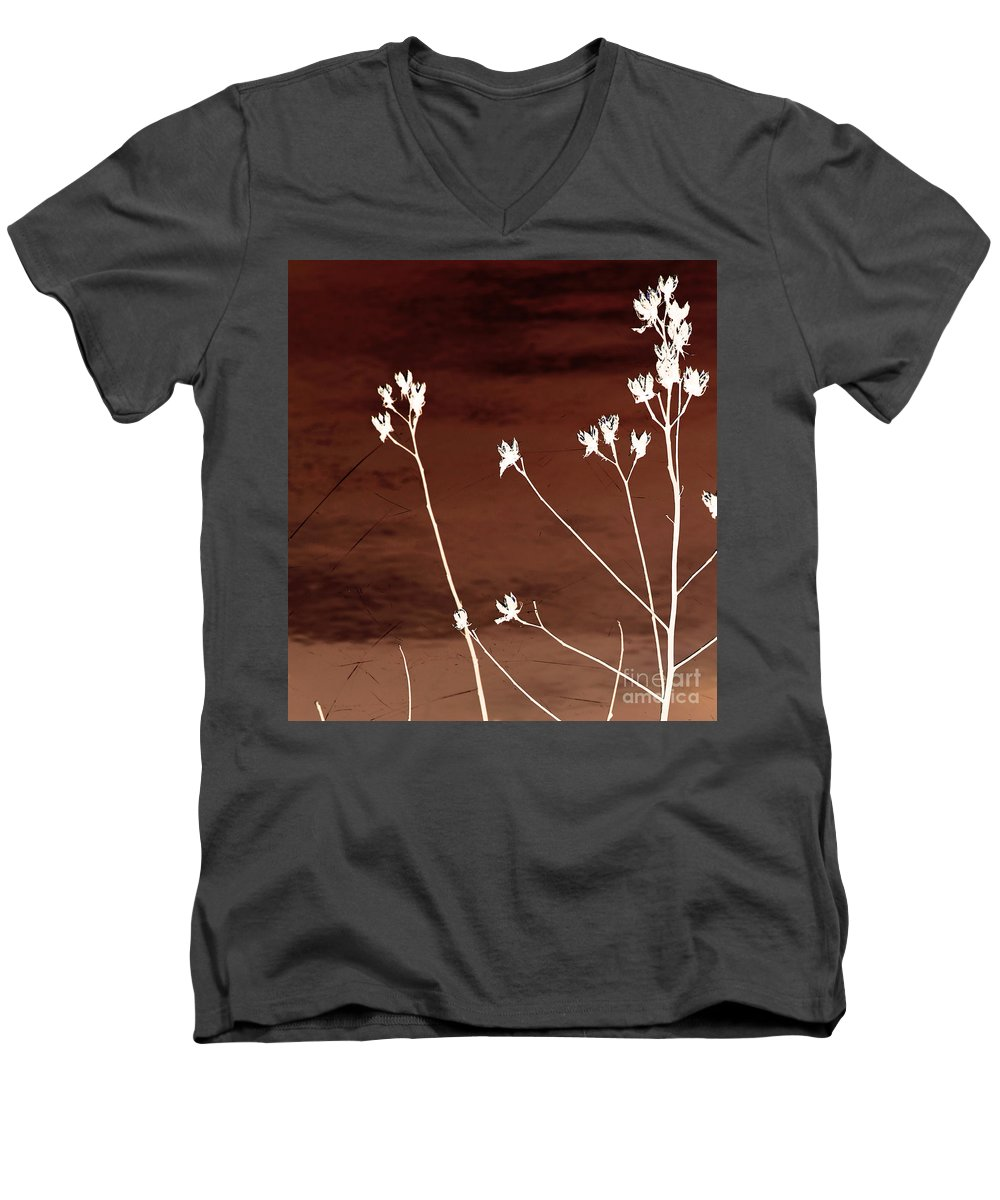 Flowers Men's V-Neck T-Shirt featuring the photograph Floral by Amanda Barcon