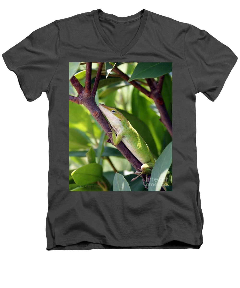 Photography Men's V-Neck T-Shirt featuring the photograph Hanging On by Shelley Jones