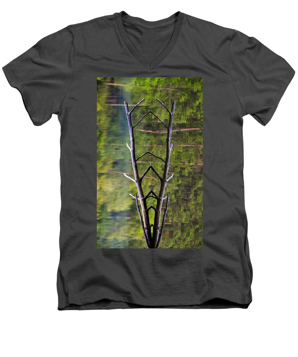 Photography Men's V-Neck T-Shirt featuring the photograph Jacob's Ladder by Skip Hunt