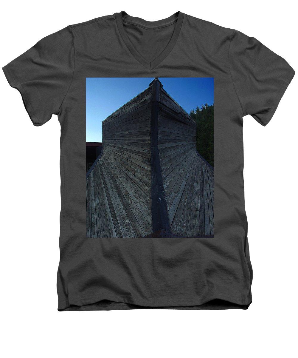 Train Men's V-Neck T-Shirt featuring the photograph Snow Plow by Peter Piatt